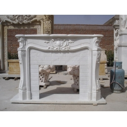 Snow White Marble Fireplace Mantel